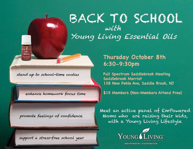 Back to School with Young Living Essential Oils - Center for